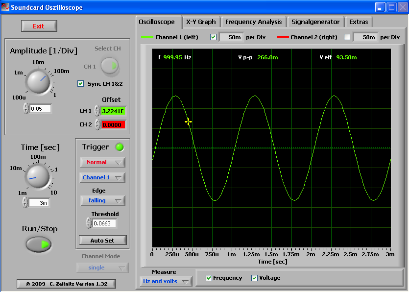 Function Generator And Oscilloscope : Sound card oscilloscope geek circuits