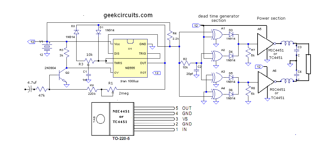 trying to build a simple Class D circuit