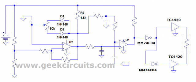 Duty factor correction circuit for LM319